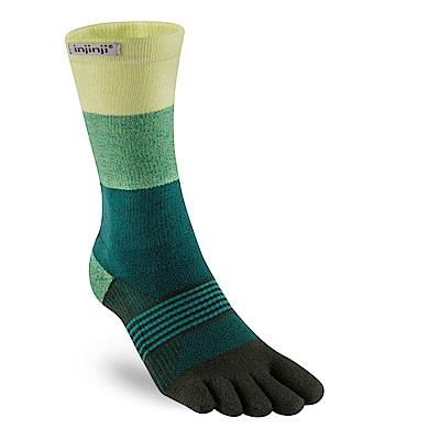 【INJINJI】TRAIL女性野跑避震吸排五趾中筒襪