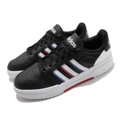 adidas 休閒鞋 Entrap 復古 低筒 男鞋 愛迪達 基本款 皮革 球鞋穿搭 黑 白 FY6076