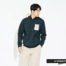 H:CONNECT 韓國品牌 男裝 - 雙口袋抽繩帽T  - 墨綠
