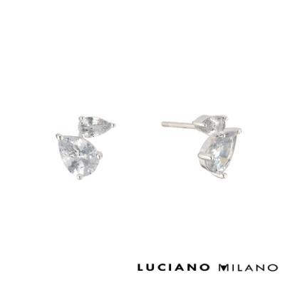 LUCIANO MILANO 星光燦爛 - 相依相隨純銀耳環