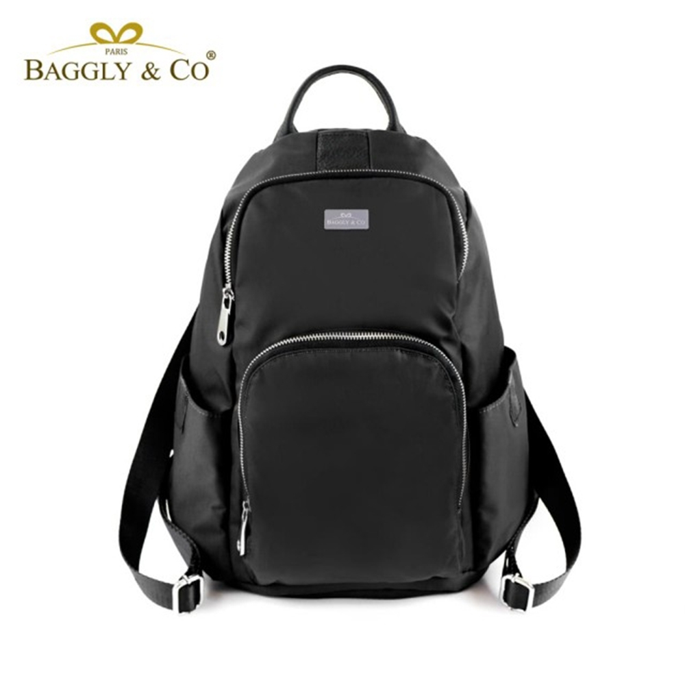 【BAGGLY&CO】防盜真皮尼龍後背包秋冬色系款(二色) product image 1