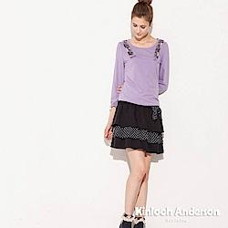【Kinloch Anderson 金安德森女裝】圓領間蕾絲蝴蝶結上衣