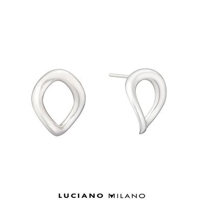 LUCIANO MILANO 極簡主義純銀耳環(圓)