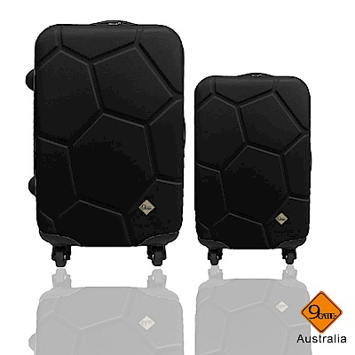 Gate9 足球系列經典二件組28吋20吋 輕硬殼旅行箱行李箱-黑色