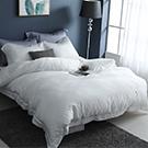 LASOL睡眠屋-100%奧地利天絲 雙人兩用被床包四件組純白夢境
