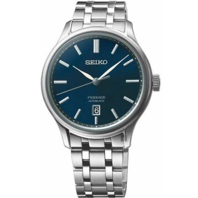 SEIKO精工 Presage 旗鑑時尚機械錶(SRPD41J1)-藍x銀/41.7mm