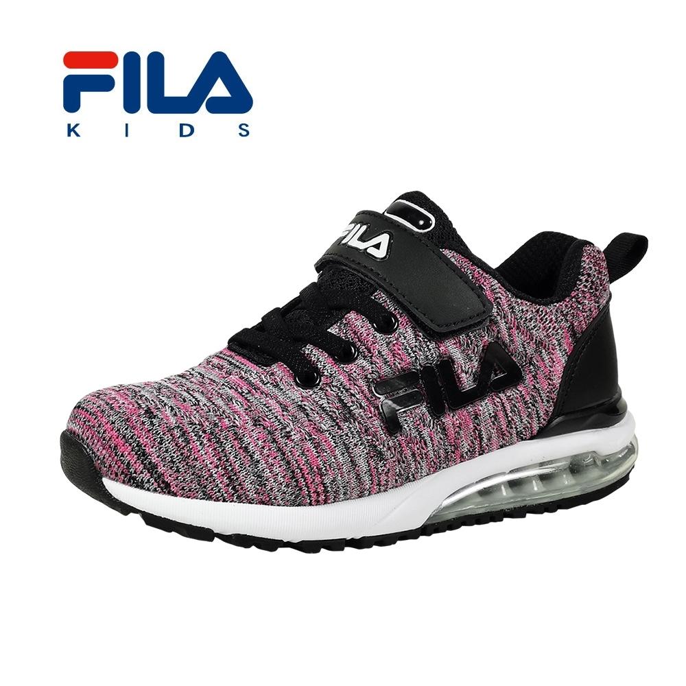 FILA 氣墊慢跑鞋 黑桃 大童(6~12歲) 3-J815T-200