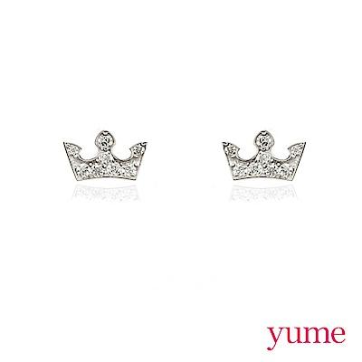 YUME - K金皇冠晶鑽耳環
