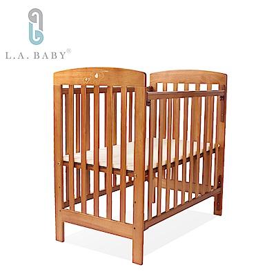 L.A. Baby 佛羅里達嬰兒小床/實木(咖啡色) 適用育嬰 託嬰