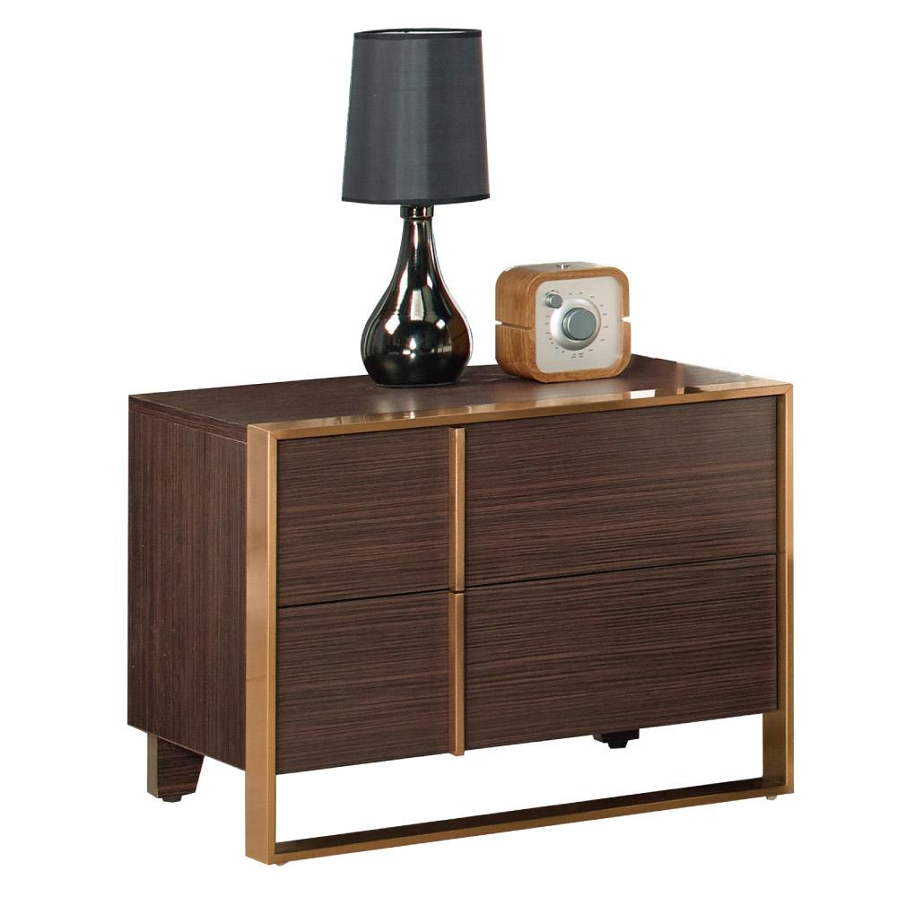 文創集 希亞德時尚1.9尺雙色床頭櫃/收納櫃-57.5x42x45.5cm免組