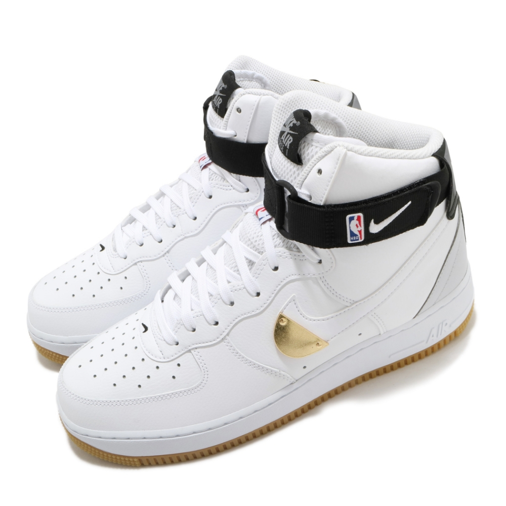 Nike 休閒鞋 Air Force 1 High 男鞋 經典款 AF1 高筒 皮革 質感 穿搭 白 黑 CT2306100