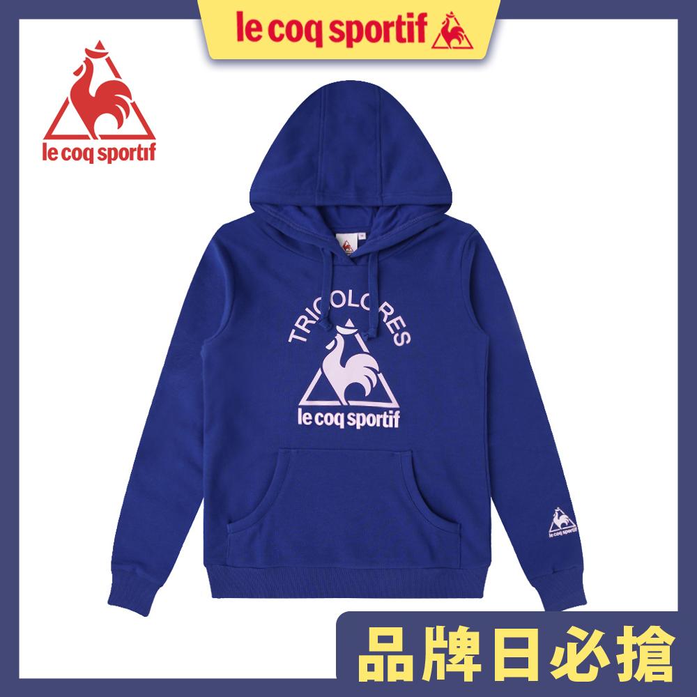 le coq sportif 法國公雞牌長袖連帽T恤 女-寶藍