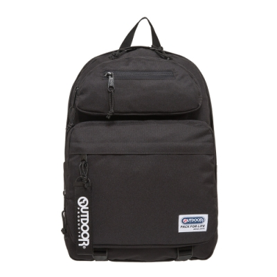 【OUTDOOR】繽紛原色-14吋筆電後背包-黑色 OD201104BK