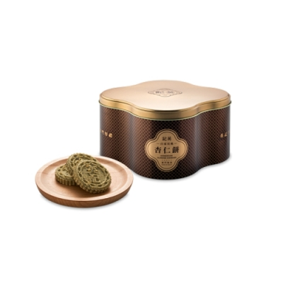 英記餅家 限定鐵罐-黑芝麻杏仁餅(500g/盒)