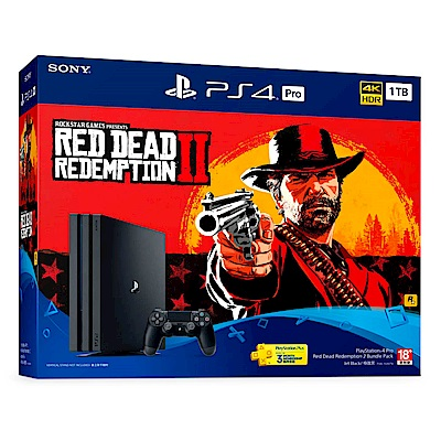 PS4 Pro《碧血狂殺2 Red Dead Redemption 2》同捆組