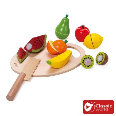 【德國 classic world 客來喜經典木玩】水果切切《2824》