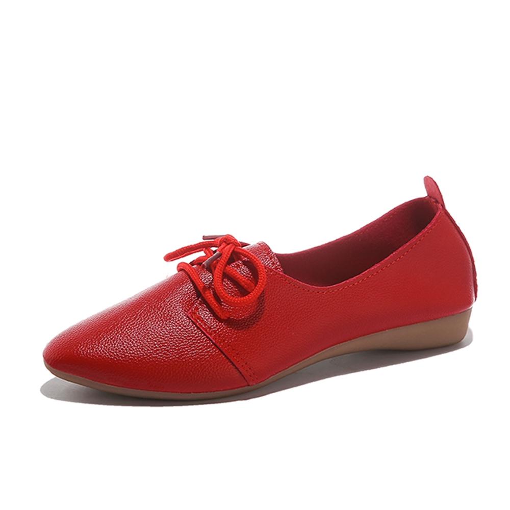 KEITH-WILL時尚鞋館-獨賣晴雨帥氣低筒皮鞋(通勤鞋/皮鞋)(共3色) (紅色)