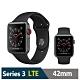 Apple Watch S3 42mm 鋁金屬錶殼搭運動型錶帶(LTE版)