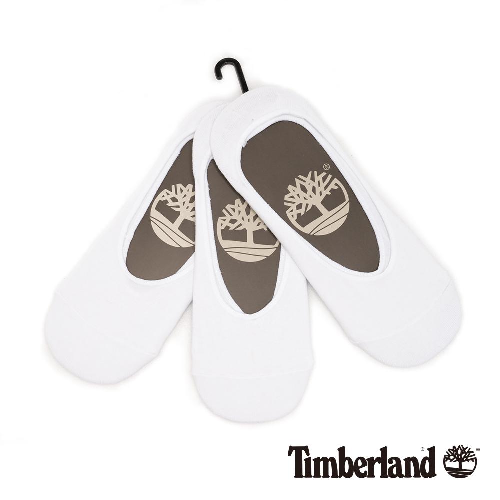 Timberland 男款白色三入組隱形襪|A1EB8