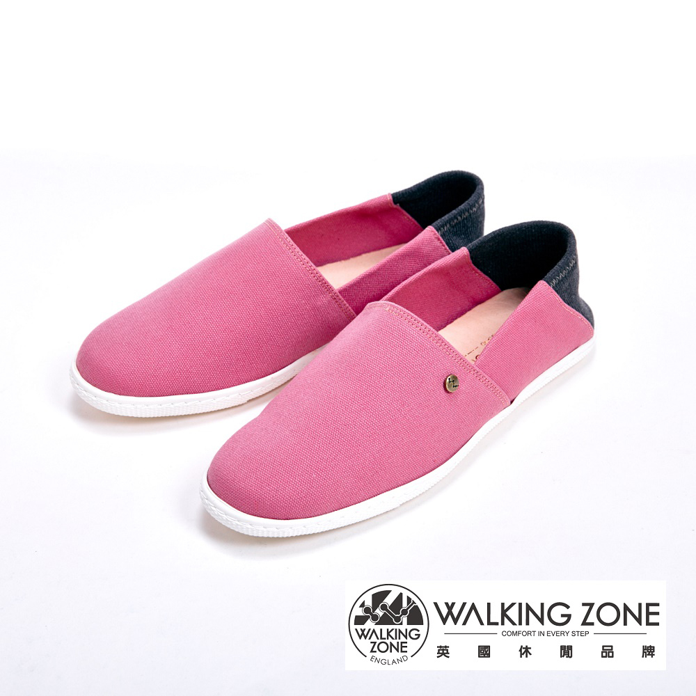 WALKING ZONE 休閒輕巧懶人鞋 女鞋-粉