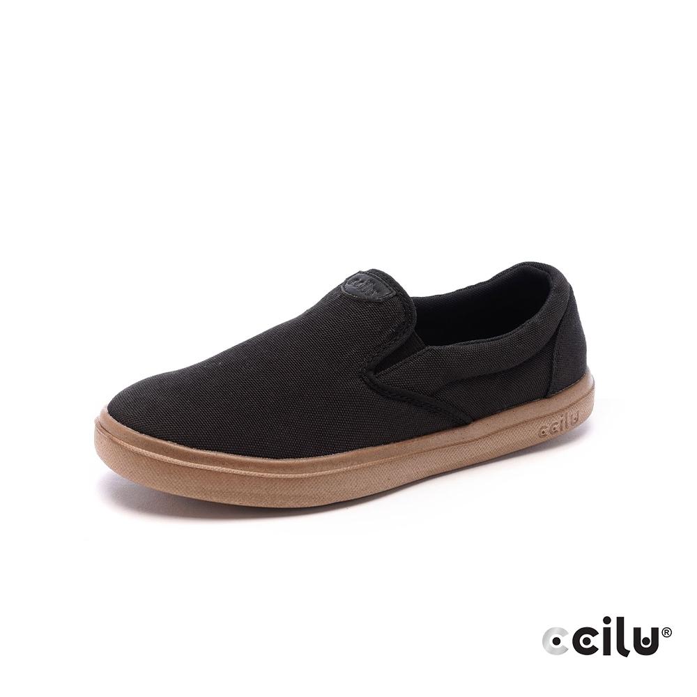 CCILU再生咖啡渣超輕量休閒鞋-男款-301353001美式黑
