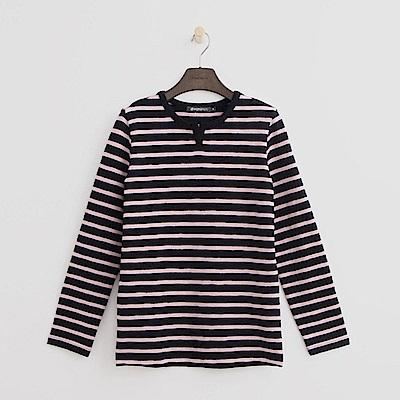 Hang Ten - 女裝 - 經典條紋T恤-藍紫色