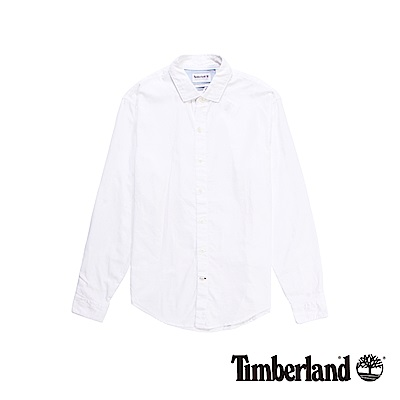 Timberland 男款白色Lane River長袖襯衫