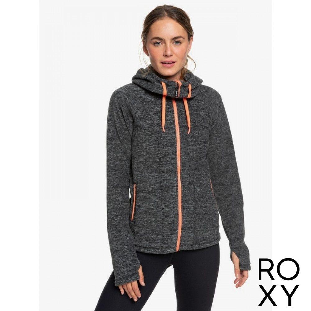【ROXY】ELECTRIC FEELING 3 連帽外套 黑灰