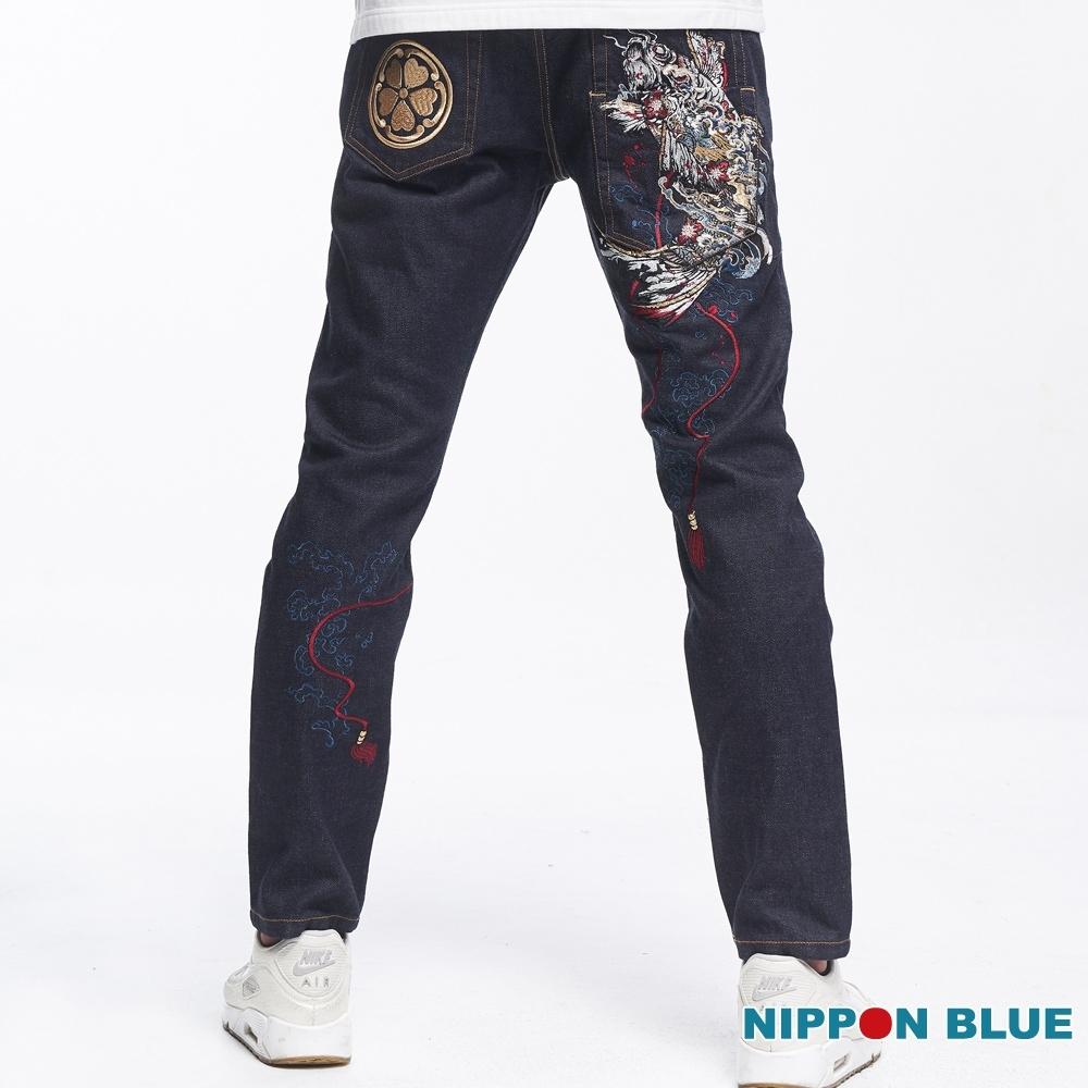 日本藍 BLUE WAY-日本藍魂鯉多袋小直筒牛仔褲