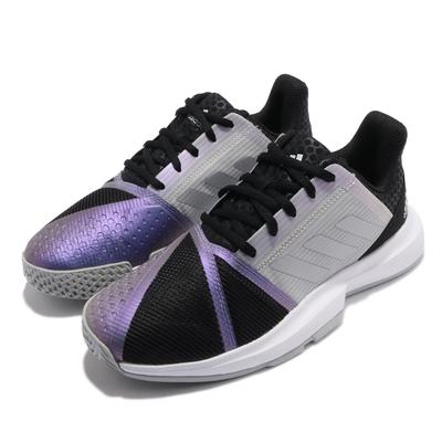 adidas 網球鞋 CourtJam Bounce 女鞋 愛迪達 避震 包覆 支撐 運動 球鞋 黑 銀 FX1525