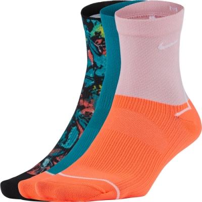 NIKE 襪子 運動襪 中筒襪 女款  粉橘綠 6雙組 CU8385900 W NK EVERYDAY PLUS ANKLE-3PR