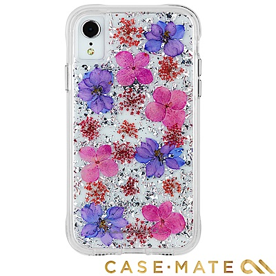 美國 Case-Mate iPhone XR Karat Petals 真實花朵防摔殼-紫