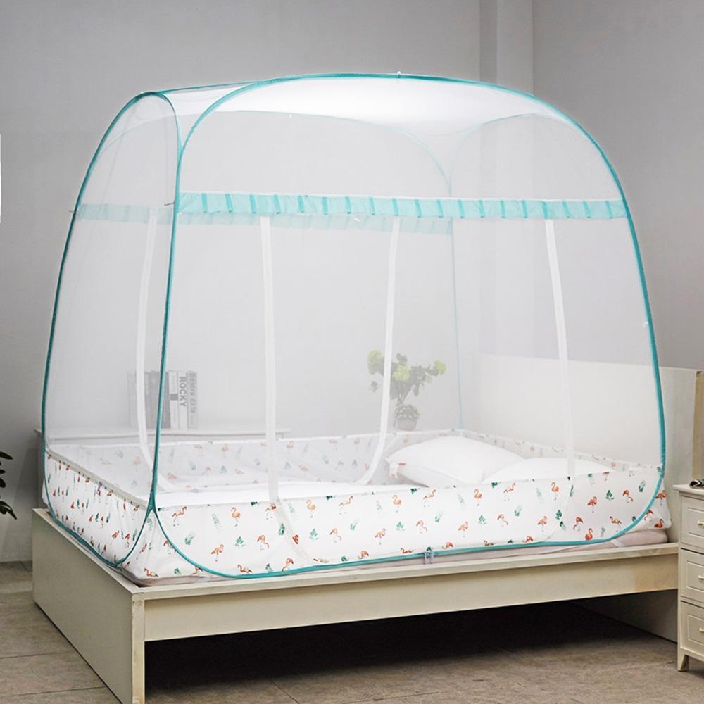 【溫馨居家】三開門式方頂免安裝蚊帳(雙人加大1.8M)