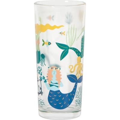 《NOW》晶透玻璃杯(悠游人魚325ml)