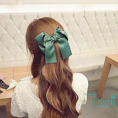 Hera 赫拉 韓版頭飾 多層緞帶 超大蝴蝶結 髮夾頂夾劉海夾盤發髮飾