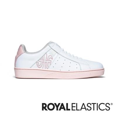 ROYAL ELASTICS Icon Genesis 粉白真皮運動休閒鞋 (女) 91901-010