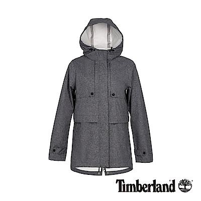 Timberland 女款深灰色連帽防水科技戶外外套|B3106