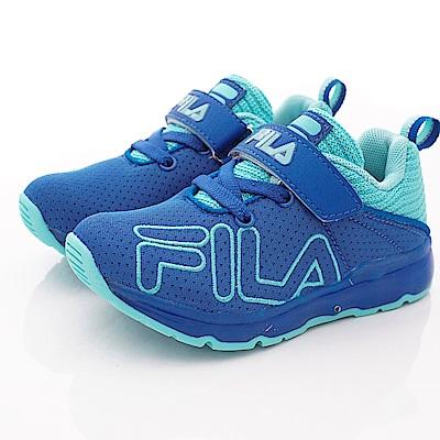 FILA頂級童鞋 針織簡約機能款 EI27S-333藍(中小童段)