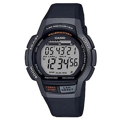 CASIO 數位時代輕量型混色運動休閒錶(WS-1000H-1A)黑框/48.3mm