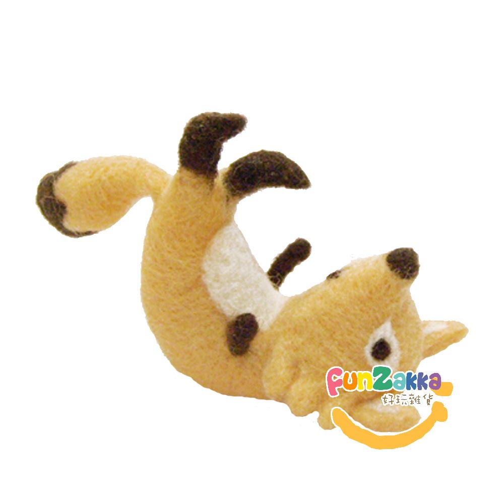 雙手牌-羊毛氈材料包-腳滑狐狸