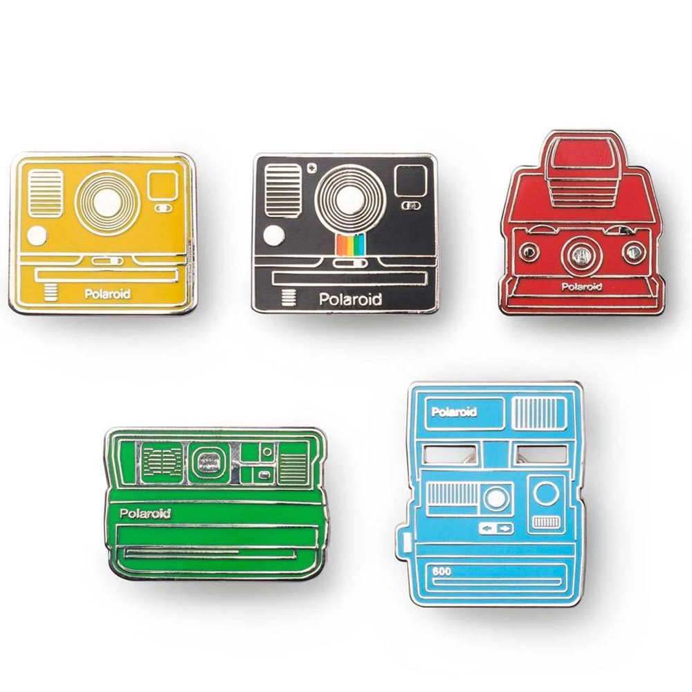 Polaroid Camera Pin Badge Kit(5) 相機造型徽章