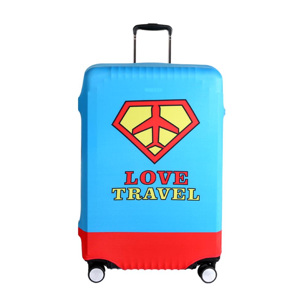 高彈性行李箱套 適用26-29吋-熱愛旅行