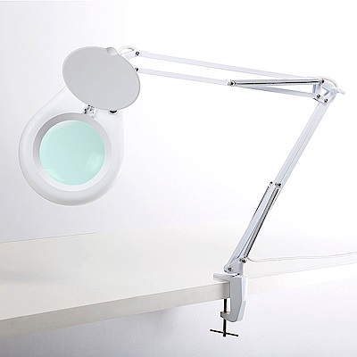 【Hamlet】1.8x/3D/127mm 工作用薄型LED檯燈放大鏡 E015-1