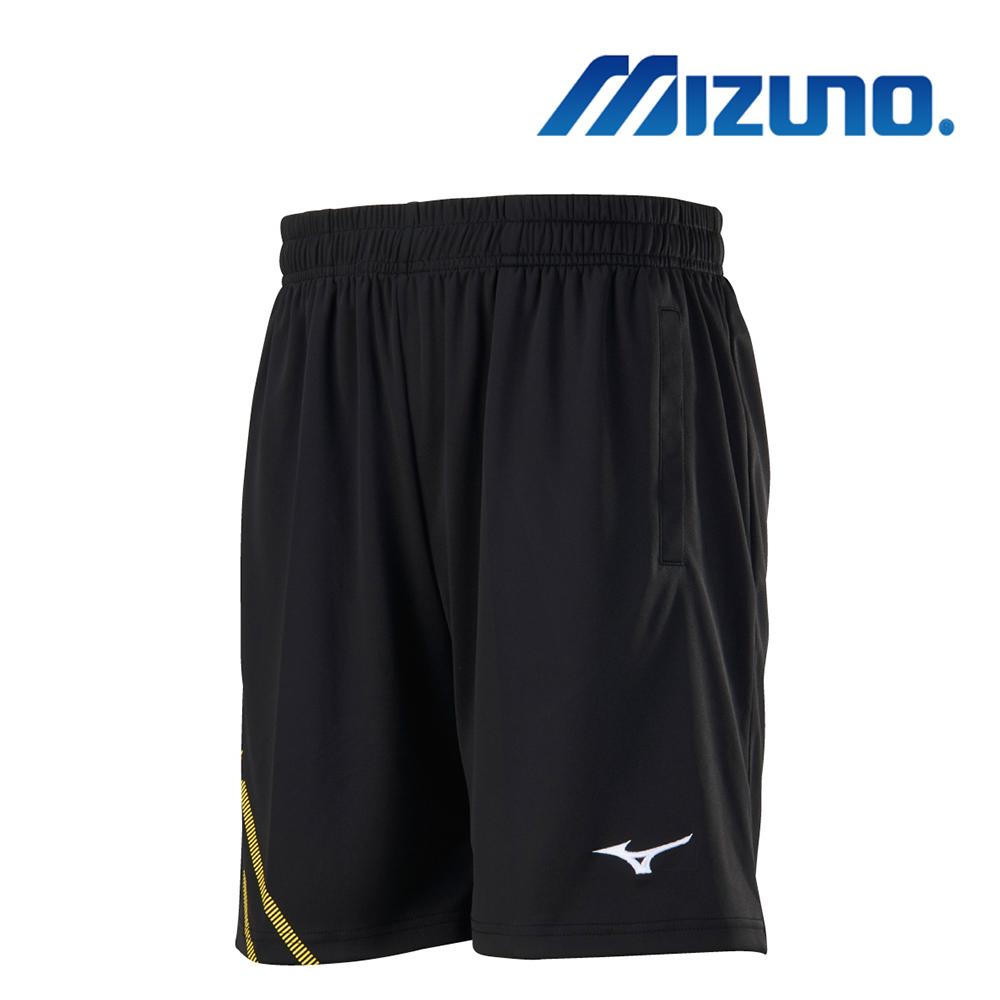 MIZUNO 美津濃 男羽球針織短褲 黑X黃 72TB9A0194