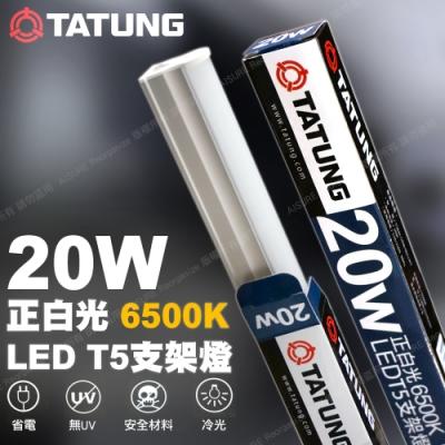 TATUNG 大同LED T5支架燈管4尺長20W 白光/6500K(30入)