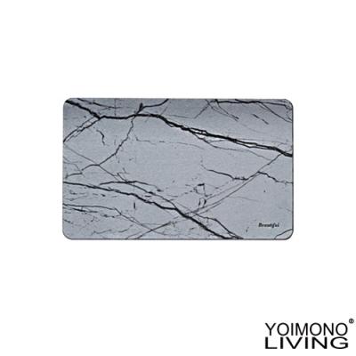 YOIMONO LIVING「工業風尚」珪藻土地墊 (石紋極灰)