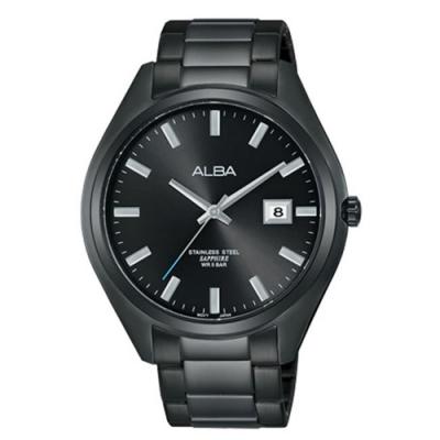 ALBA 情人藍寶石風格錶-黑42mm(VJ42-X250SD/AS9F81X1)