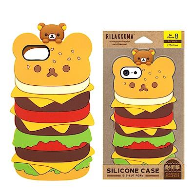 iPhone 8/7/6s/6 拉拉熊/角落生物 造型矽膠 軟殼 4.7吋-漢堡