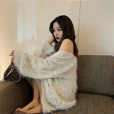 DABI 韓國風閃閃針織毛衣長袖上衣 @ Y!購物