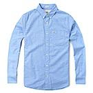 海鷗 Hollister 經典標誌長袖襯衫-水藍色